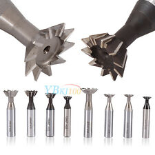 45° 60° Degree HSS Straight Shank Dovetail Groove Cutter End Mill 10-25mm New