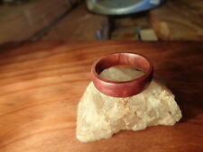 Wood Band Ring,Manzanita Burl Wood Band Ring,Handmade,Unisex (Ships Free USA)