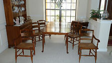 HITCHCOCK Dining room Hutch, Table, 4 side chairs, 2 end chairs and tea cart