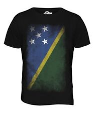 SOLOMON ISLANDS FADED FLAG MENS T-SHIRT TEE TOP SOLOMON AELAN SHIRT JERSEY GIFT