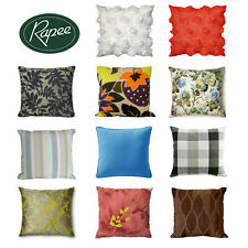 Quality Floral Striped Appliqued Printed Filled Cushion 50 x 50 cm by Rapee