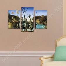 POSTER or STICKER +GIFT Decals Vinyl Swans Reflecting Elephants Salvador Dali