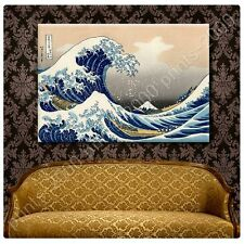 POSTER or STICKER +GIFT Decals Vinyl The Great Wave Katsushika Hokusai Prints