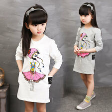 Casual Baby Girls Dresses For Girls Princess Dress Autumn Kids Clothes for3-11Y