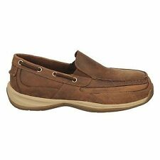 Rockport Men's Sailing Club Steel Toe Slip-On Boat Shoe Loafers Shoes