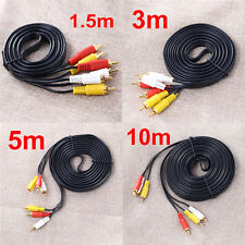 10m RCA Composite Male to Male Audio Video AUX 10FT Cable Cord for DVD TV  VCR