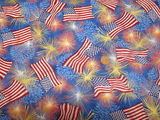 FLAGS AND FIREWORKS--SCRUB HAT / MEDICAL / SURGICAL--YOUR CHOICE IN STYLE