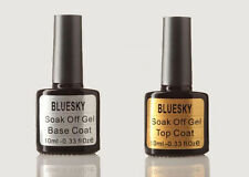 BLUESKY Top / Base Coat UV / LED Soak Off Nail Gel Polish Art - free wipes offer