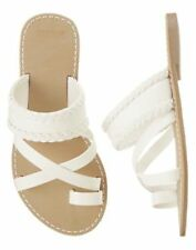NWT Gymboree Island Cruise Braided White Sandals Shoes 9 10 11 12 13 1 2
