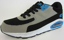 Air Tech Intercept Mens Black/Blue/Grey Lace Up Trainers UK Sizes 7X11 (R1B)