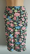 MISS GUIDED BNWT Womens floral midi tube skirt size m/l
