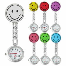 Smile Face Nurse Fob Watch Clip Watch Medical Use Pocket Quartz Clasp Watch TY
