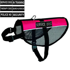Reflective Service Dog Vest Mesh Harness with Removable Patches THERAPY TRAINING