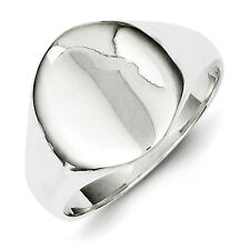 Sterling Silver Signet Ring - Ring Size: 6 to 8