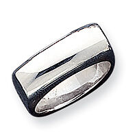 Sterling Silver Squared Domed Ring - Ring Size: 6 to 8