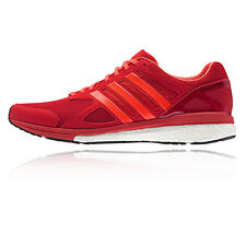 Adidas Adizero Tempo 8 Mens Red Cushioned Running Sports Shoes Trainers
