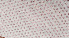 Pale pink flowers / dots on white NEW 100% Cotton Fabric Quilting sewing crafts