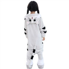 Kids Pajamas Cheest cat Kigurumi Unisex Cosplay Animal Costume Onesie sleepwear~