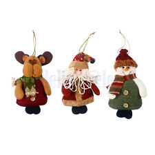 Christmas Hanging Decorations Elk/Snowman/Santa Xmas Tree Ornaments DH