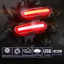 Bicycle Cycling Bike Warning Light USB Rechargeable Rear Safety Red Tail LED