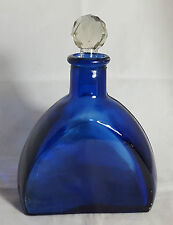 Beautiful Collectable Cobalt Blue Glass Bottle (Height - 18 cm)