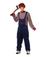 Child's Play Chucky Men's Scary Movie Costume Doll Halloween Adult Std XL Mask