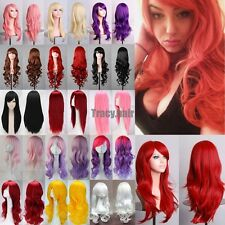 """80cm/32"""" Fashion Womens Multicolor Long Straight Wig Anime Cosplay Party Wigs GH"""