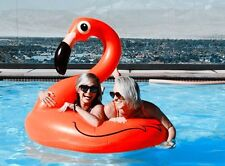 Lake Swimming Lounge Raft Pool Giant Rideable Swan Flamingo Inflatable Float Toy