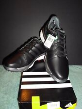 NEW MEN'S ADIDAS ADIPOWER BOOST 2 GOLF SHOES BLACK & GREY YOU CHOOSE THE SIZE