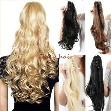 Clip In Hair Extension Ponytail As Human Barbie Claw Pony Tail  Accessory H910