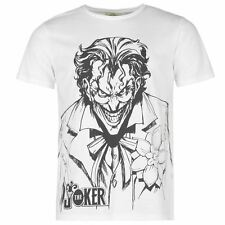 MENS WHITE DC COMICS RETRO VINTAGE STYLE BATMAN JOKER TEE SHIRT T-SHIRT
