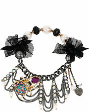 Betsey Johnson CREEPSHOW SPIDER HALF STRETCH BRACELET NWT