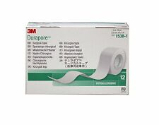 """3M DURAPORE Cloth Medical Surgical Tape 1538-1 1""""x10 yds - 6 Or 12 Rolls"""