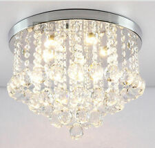Crystal Droplights Silver Chrome Ceiling Pendant Light Chandelier Fitting Lamp