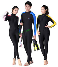 Mens Women Scuba Diving One-Piece Full Length Swim Suit Snorkeling Surf Wetsuit