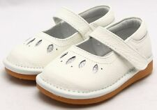 """Freycoo """"Sal"""" White Leather Shoes Flower Girl Mary Janes"""