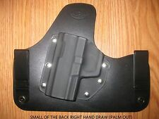 IWB SOB - (small of the back) Kydex/Leather Hybrid Holster