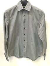 Mens Inserch 100% Jacquard Cotton Quality Shirt Houndstooth Gray Silver Black