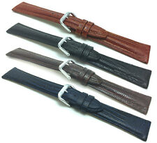 Womens', Lizard Style, Genuine Leather Watch Band Strap, Glossy, 12mm to 20mm