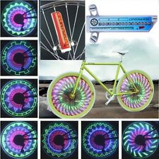 New 32 LED Rainbow Bicycle Bike MTB Wheel Spoke Light Double Sided Tire Lamp SY