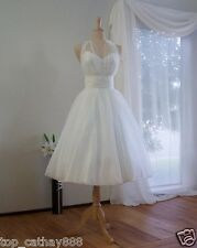 New Style Tea Length Tulle Wedding Dress Short Party Formal Wedding Bridal Gowns