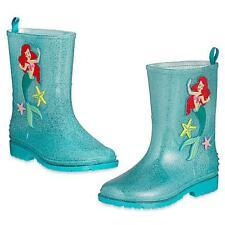 Disney Store Ariel The Little Mermaid Rain Boots Girls NEW