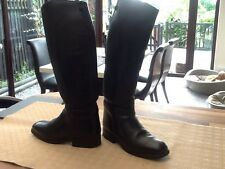 Black leather Equestrian riding boots size 5 Cavallo