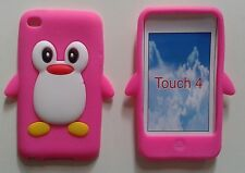 3D Cute Penguin Animal Silicon Rubber soft Case Cover for  ipod  Touch4 4th Gen