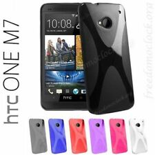 Slim Fit Soft Gel Wave X Line TPU Case Cover for HTC One M7