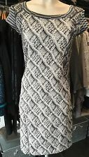 SAVE THE QUEEN NS AW16 BLACK WHITE SNAKE SKIN INSPIRED DRESS S,M,L,XL