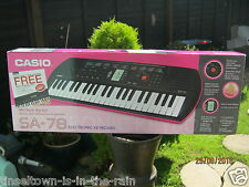 Casio SA-78 Mini Keys Keyboard - Pink.Boxed and casio power adaptor included