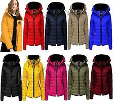 New Ladies Quilted Puffer Bubble Padded Jacket Fur Collar Zip Up Women Coat