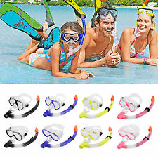 ADULTS MASK & SNORKEL SET ULTRA CLEAR SNORKELLING SWIMMING SCUBA DIVING ANTI-FOG