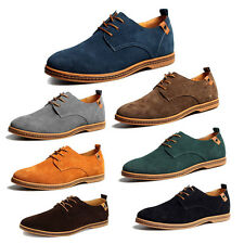 2016 New European Style Suede Leather Shoes Men's Oxford Casual Lace Up Loafers